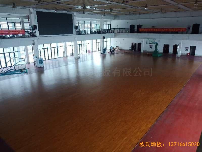 广西来宾市较好的中学体育木地板铺设案例