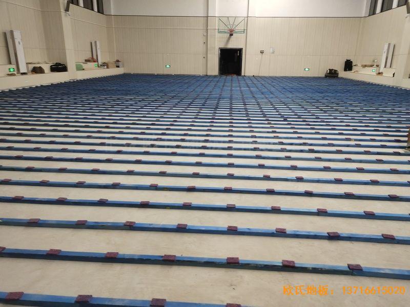 江西吉水县城南第二小学体育木地板施工案例