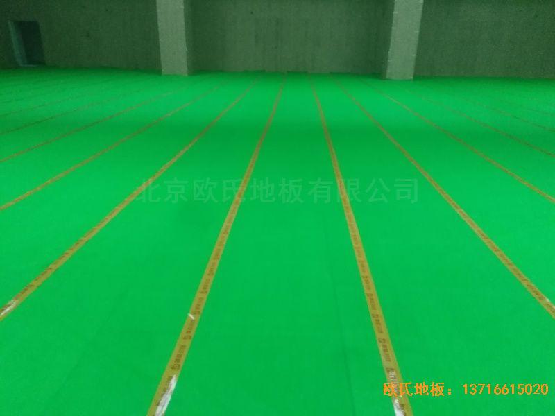青岛黄岛区滨海街道中心小学体育地板铺设案例