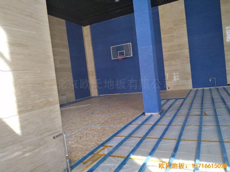 内蒙古赤峰中国税务总局职工活动中心体育木地板铺设案例