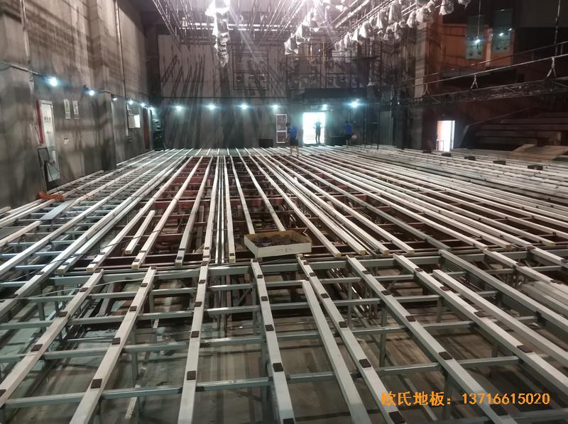 杭州职工之家舞台运动木地板安装案例