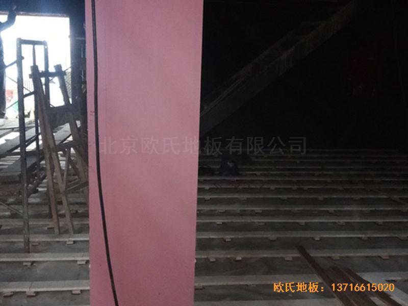 河北承德滦平一中升降舞台运动地板铺设案例